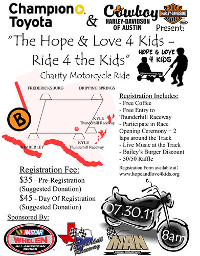 July 30, 2011 - Kyle, TX - Charity-Motorcycle-Ride by seanclaes
