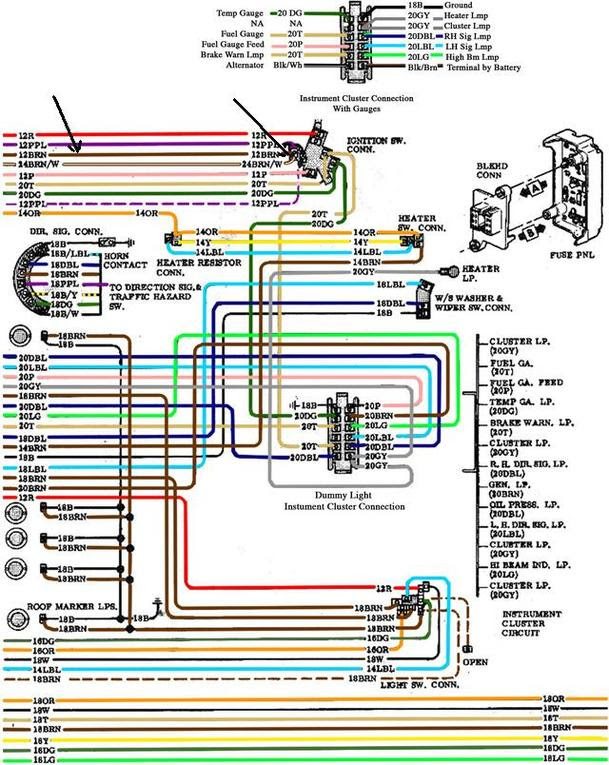 68 Chevelle No Dash Light Wiring Diagram
