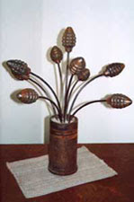 Pineapples - Abstract sculptures and artwork as home decor and garden decor