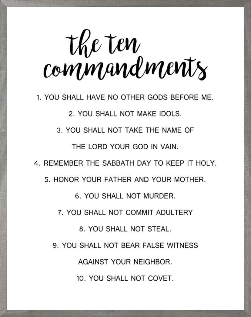 Ten Commandments Beechdale Frames