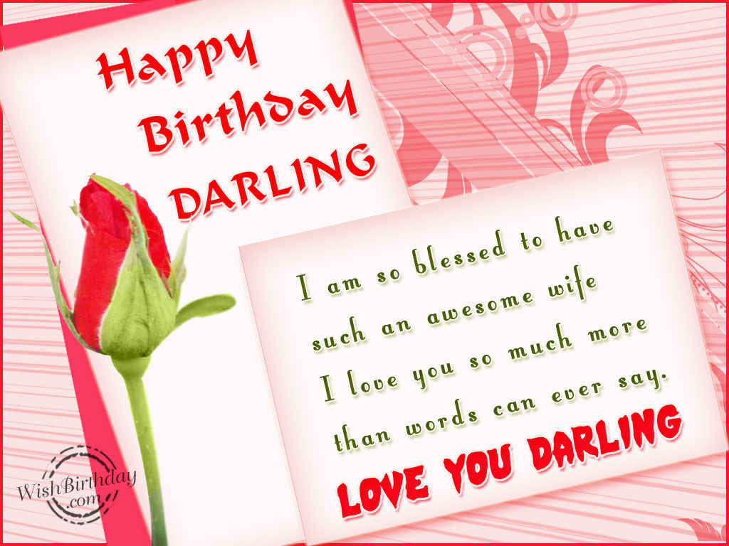 Happy Birthday Love You Darling Pictures Photos And Images For