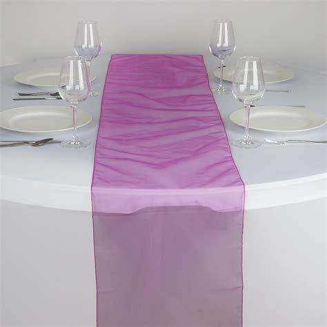 "50 Wholesale Lot ORGANZA 14x108"" Table RUNNERS Wedding"