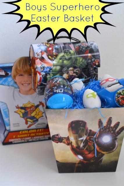 Marvel Superhero Boys Easter Basket Our Thrifty Ideas