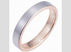 4mm Brushed Tungsten Wedding Band Ring with Rose gold Interior  Unisex