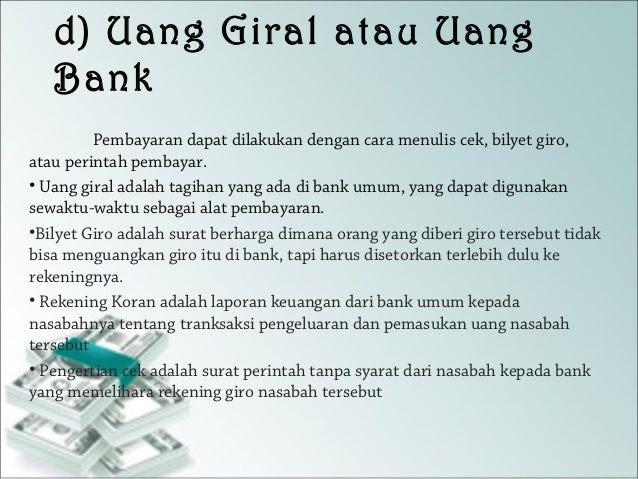 Apa Yang Dimaksud Dengan Uang Giral - Info Terkait Uang