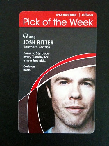 Starbucks iTunes Pick of the Week - Josh Ritter - Southern Pacifica #fb