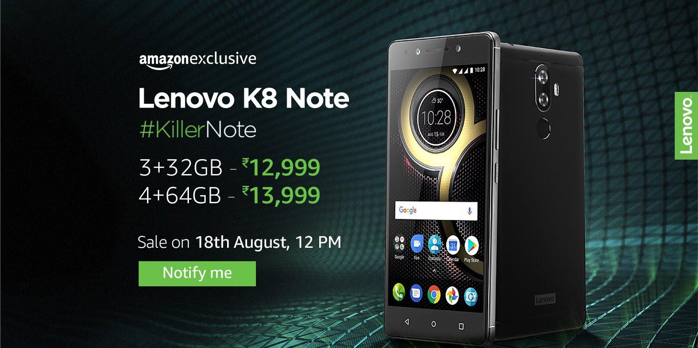 Lenovo K8 Note Register now