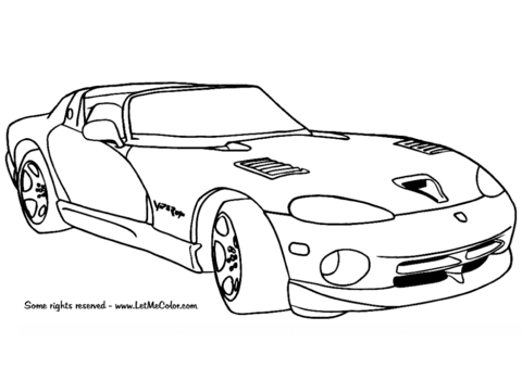 96 Viper Car Coloring Pages Download Free Images