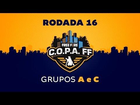 FREE FIRE AO VIVO C.O.P.A. FF - Rodada 16 - Grupos A e C