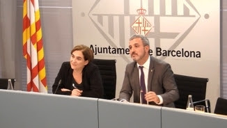 Ada Colau, alcaldessa de Barcelona, i Jaume Collboni