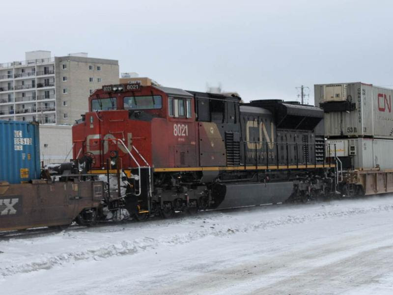 CN 8021 in Winnipeg