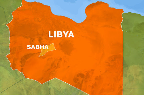 A map of the southern Libya city of Sabha where an attack on a prison liberated over 40 inmate. Libya under neo-colonialism has become an international pariah. by Pan-African News Wire File Photos