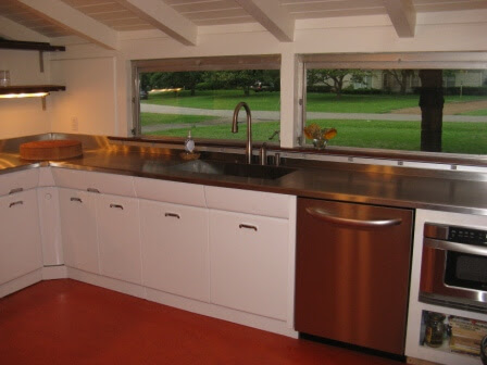White Metal Kitchen Cabinets