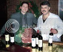 Marash Gojcaj (left) and Zef Vulevic at Gusto Ristorante