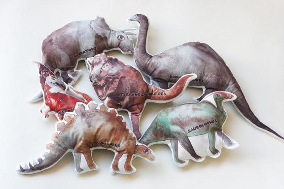 Dinosaurus plushies fabric toys
