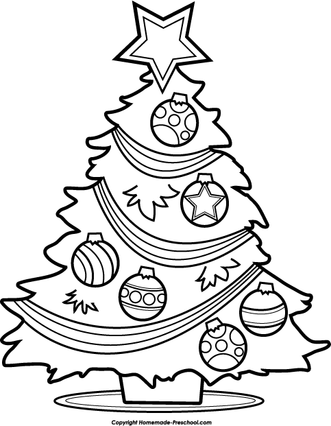80 Christmas Clipart Black And White Free Clipartlook