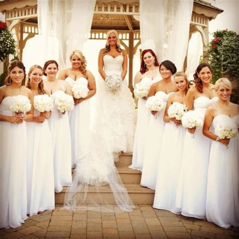 All white bridesmaids dresses!   Weddingbee Photo Gallery