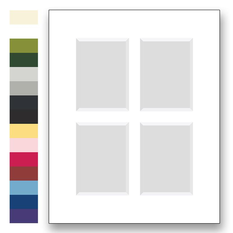 Archival Matting For 16x20 Size Frames With 4 Window Openings