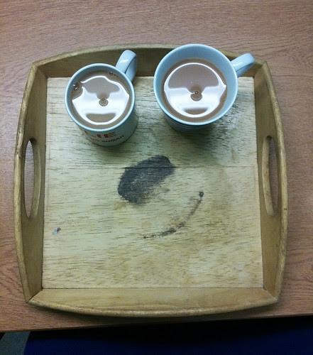 Happy Tea Tray