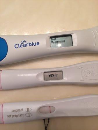 negative clear blue pregnancy test results