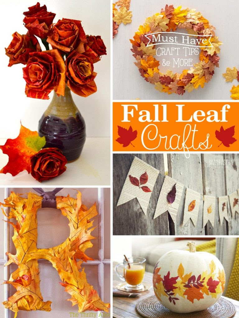 Inexpensive fall crafts using leaves from outside or from the store!