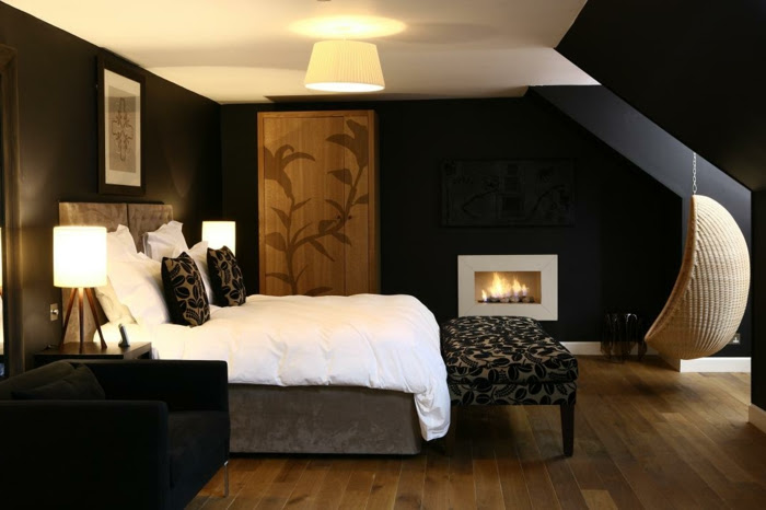 Dunkle Wandfarbe Schlafzimmer Wande Streichen Ideen In Dunklen Schattierungen