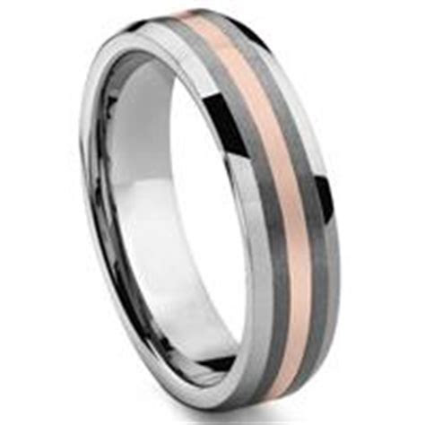 Tungsten Inlay Rings Wedding Bands For Men   Titanium Kay