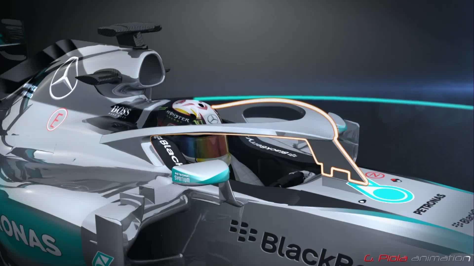 F1 Mercedes Halo Closed Cockpit