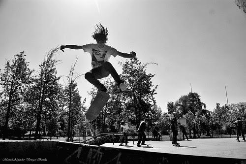Santiago de Chile, skate park Parque O'Higgins by Alejandro Bonilla