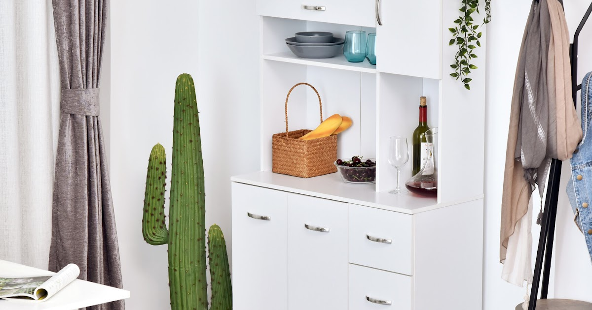 Hutch Kitchen Cabinets - Glamorous Buffet Hutch In Kitchen ...