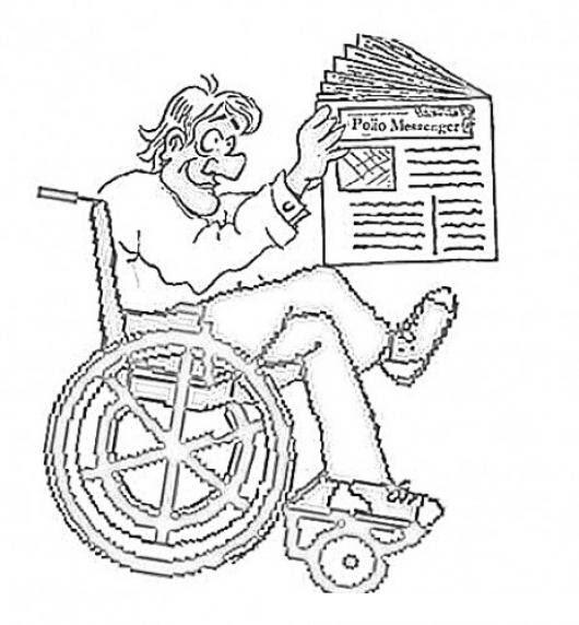 Minusvalido Con Periodico Dibujo De Hombre En Silla De Ruedas