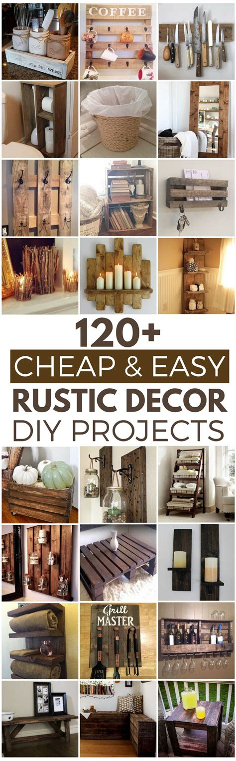 cheap  easy diy rustic home decor ideas prudent
