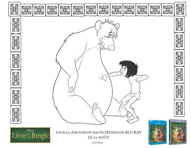 Coloriages Le Livre De La Jungle Baloo Et Mowgli Frhellokidscom