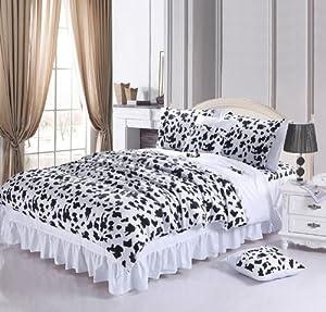 Amazon.com - DIAIDI Home Textile, Black And White Bedding Set, Cow ...