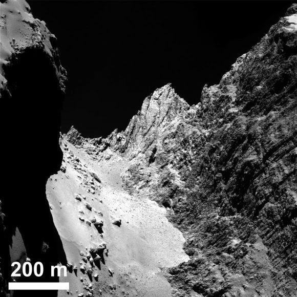 Detalle de la región de Hapi (ESA/OSIRIS).