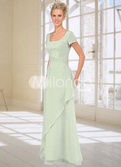 Chiffon Mother's Dress Pastel Green Sequin A Line Floor