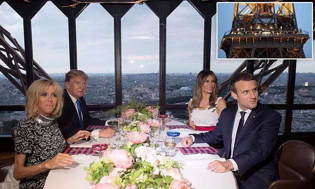 Les Trumps et les Macrons dînent à la Tour Eiffel