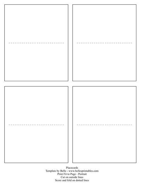 Wedding Place Cards Template For Microsoft Word Free