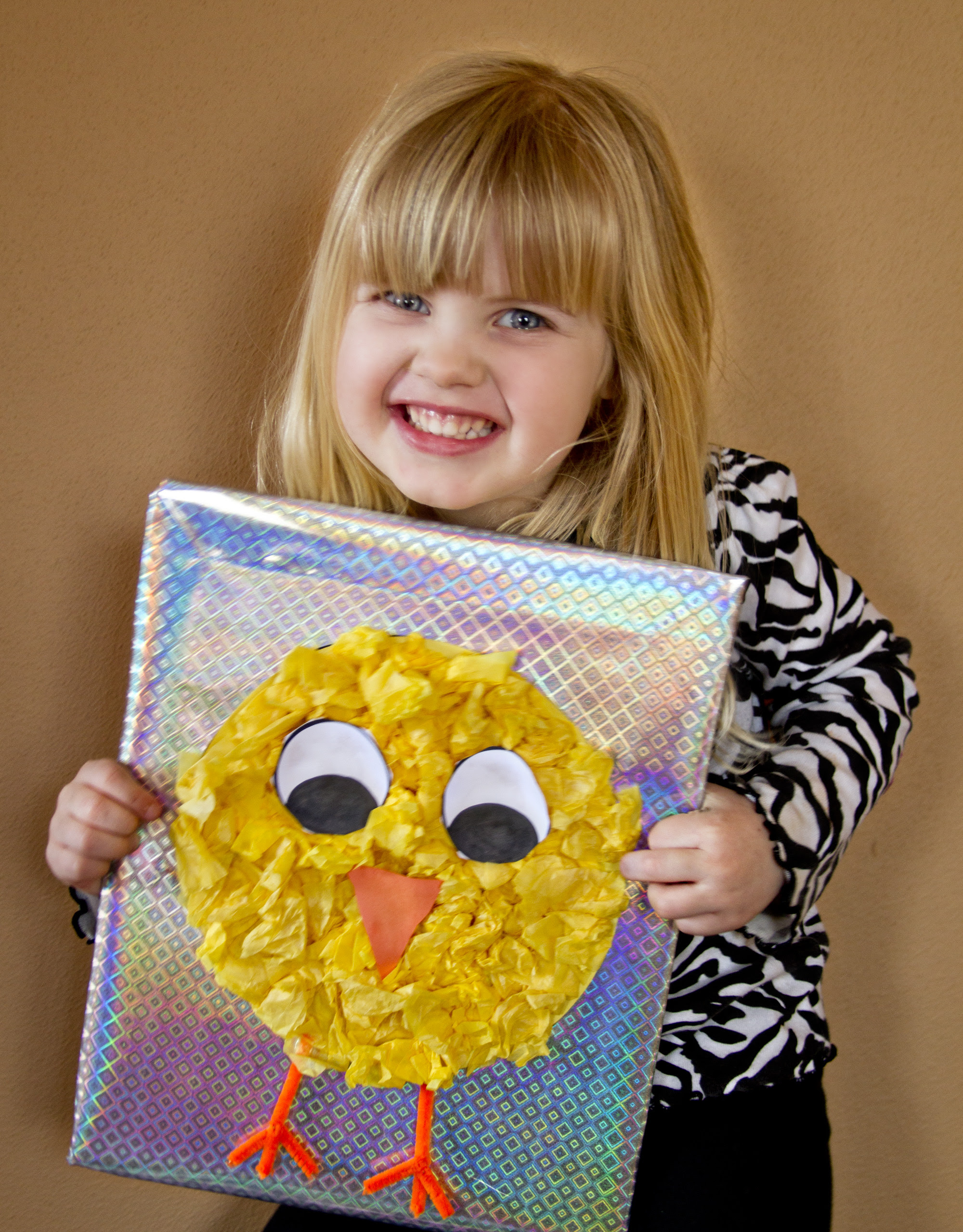 Easy Tissue Paper Craft for Preschool and Kindergarten for Easter