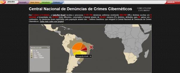 Safernet lança site para reunir denúncias de crimes na Internet (Foto: Reprodução/Safernet)