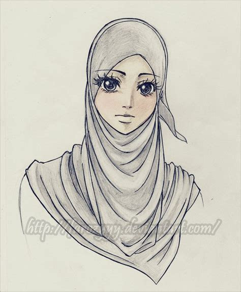 hijab drawings images  pinterest colours