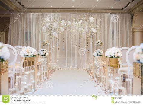 Beautiful Wedding Ceremony Design Decoration Elements With