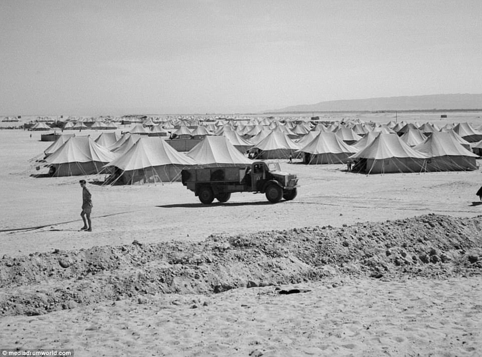 People from Dalmatia had difficulty adjusting to desert conditions (the refugee camp pictured above), especially children who suffered from intestinal diseases. Many of them died
