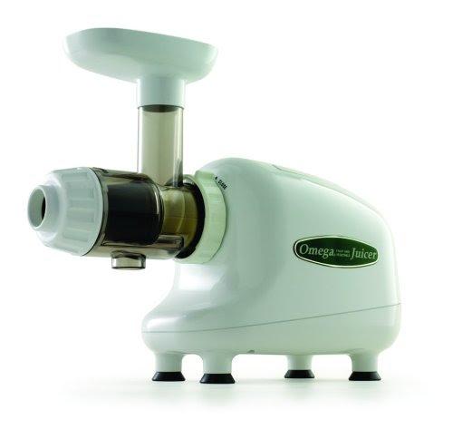 Omega J8003 Nutrition Center Single-Gear Commercial Masticating Juicer, White