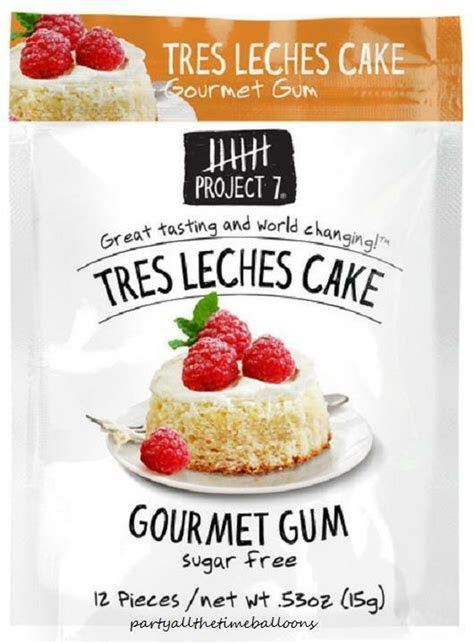 3 Packs Project 7 TRES LECHES CAKE Gourmet Gum NEW FLAVOR