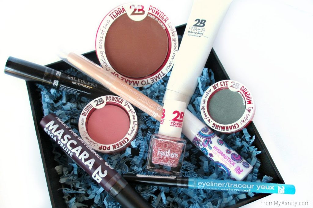 2B Colours box of goodies! #giveaway #beauty #makeup