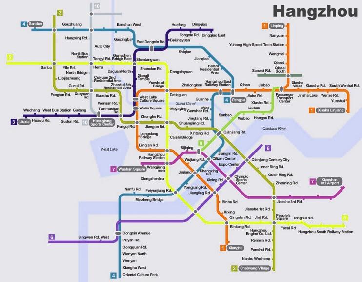 hangzhou subway planning map max