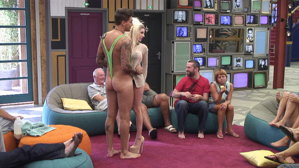 Celebrity Big Brother 12 summer 2013 - TOWIE's Mario Falcone dons a mankini for dance with Courtney Stodden