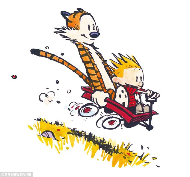 Doppelgangers: Marshall and Kali have been compared to the characters of the comic strip Calvin and Hobbes, which follows the antics of a boy named Calvin and his stuffed tiger