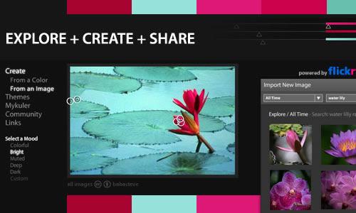 Kuler: Explora, crea y comparte esquemas de colores